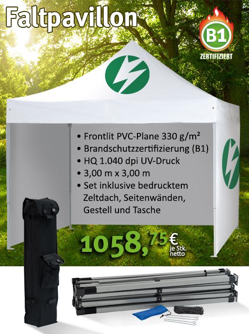 Faltpavillon - bedrucktes Zelt ab 1058,75€
