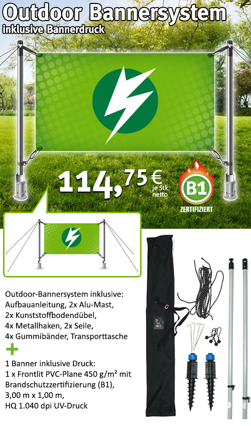 Outdoor Bannersystem - ab 114,75€