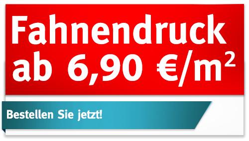 PreisSkandal: FahnenDruck ab 6,90 €/m²