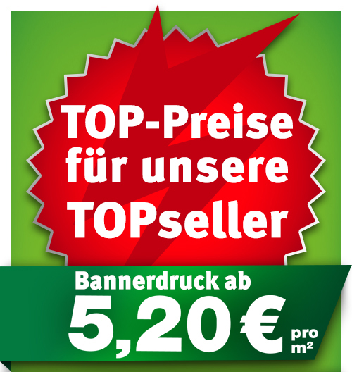 BannerSkandal: Bannerdruck ab 5,20 €/m² netto