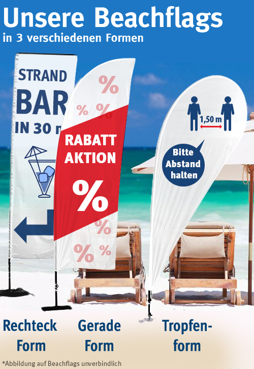 FahnenSkandal: Beachflags in drei Formen