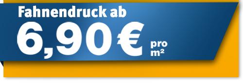 FahnenSkandal: Fahnendruck erhalten Sie ab 6,90 €/m² netto